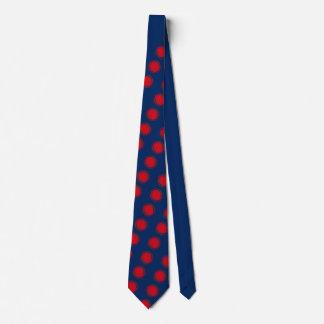 Rote wirbelnde Tupfen Individuelle Krawatten