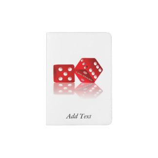 Rote Würfel Las Vegass Passhülle