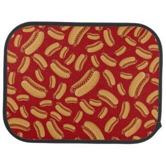 Rote Würstchen Autofußmatte