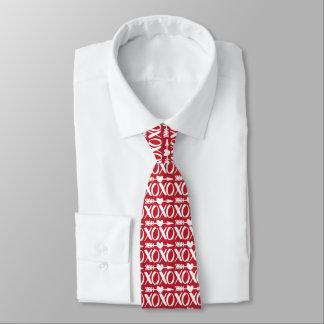 Rote XOXO Herz-Pfeil-Mustervalentines-Krawatte Individuelle Krawatten