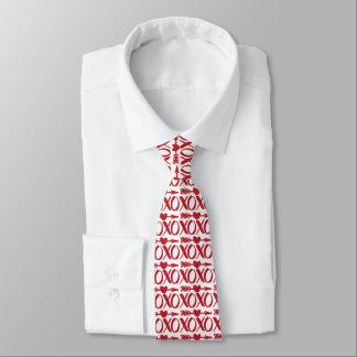Rote XOXO Herz-Pfeil-Mustervalentines-Krawatte Krawatte