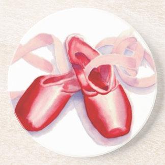 Rote Zehe-Schuhe Sandstein Untersetzer