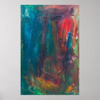 Rote Zunge des abstrakten Kunst-Plakats TigerSun