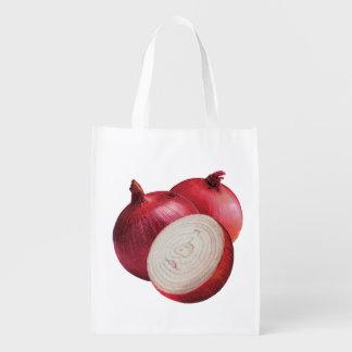 Rote Zwiebel-wiederverwendbare Tasche Wiederverwendbare Einkaufstasche