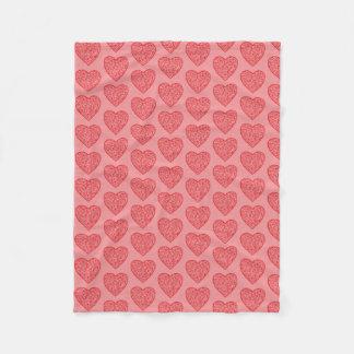 Roten Herz-Valentines/Liebe Fleecedecke