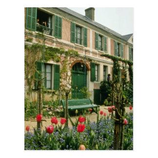 Roten Monets Haus und Garten, Giverny, Nordfranc Postkarte