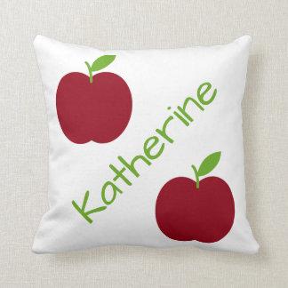 Roten und grünen Apfel-Lehrers Kissen