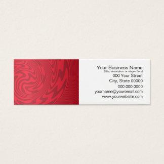 Roter abstrakter Entwurf Mini Visitenkarte
