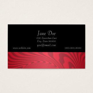 Roter abstrakter Entwurf Visitenkarte