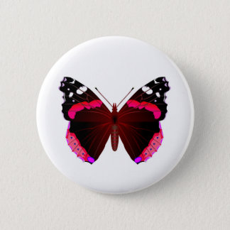 Roter Admiral Runder Button 5,7 Cm
