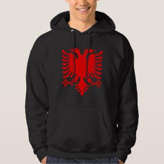 Roter Albaner Eagle Kapuzenpullover