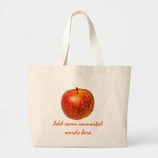Roter Apfel Jumbo Stoffbeutel