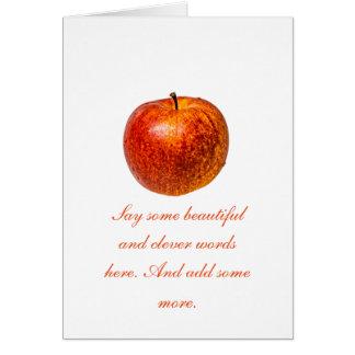 Roter Apfel Karte