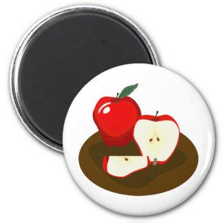 Roter Apfel-Magnet Runder Magnet 5,1 Cm