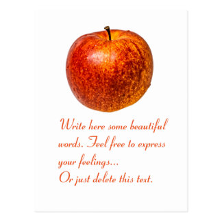 Roter Apfel Postkarte