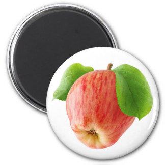 Roter Apfel Runder Magnet 5,1 Cm