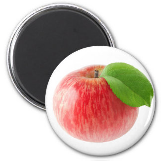 Roter Apfel Runder Magnet 5,7 Cm