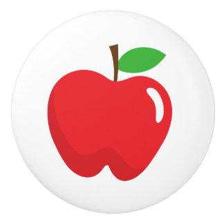 Roter Apfel - Spaßentwurf für Kinder Keramikknauf
