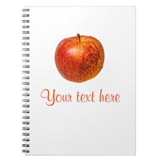 Roter Apfel Spiral Notizblock