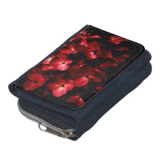 Roter Blumen-Blumenstrauß im schwarzen