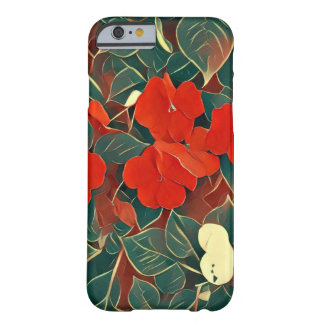 Roter Blumen-Kasten Barely There iPhone 6 Hülle