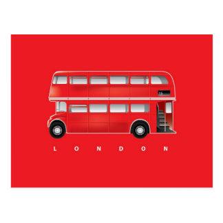 Roter Bus Londons - Doppeldecker Postkarte