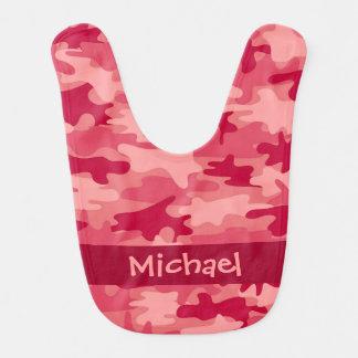 Roter Camouflage-Tarnungs-Name personalisiert Lätzchen