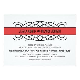 Roter Deko blühen Hochzeit einladen 12,7 X 17,8 Cm Einladungskarte