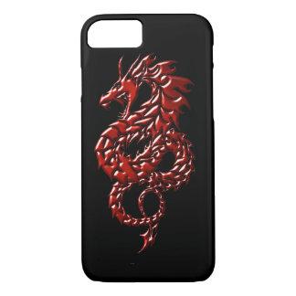 Roter Drache steigender schwarzer iPhone 7 iPhone 7 Hülle