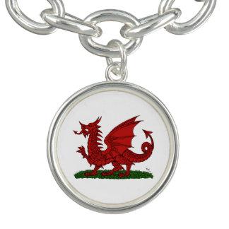 Roter Drache von Wales Armbänder