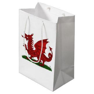 Roter Drache von Wales Mittlere Geschenktüte