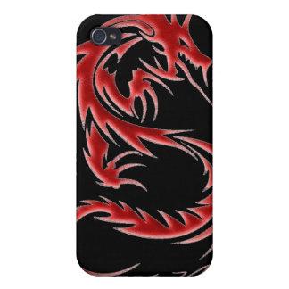 Roter Dracheipod-Kasten iPhone 4/4S Case
