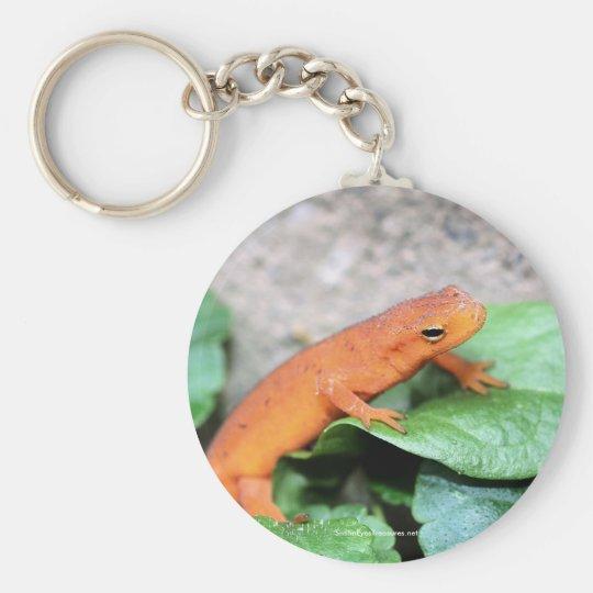 Roter Eft Salamander-Natur-Foto Keychain Schlüsselanhänger