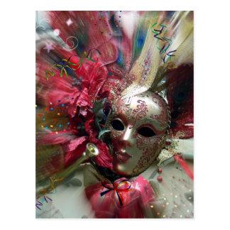 Roter Fantasie-Engel Postkarte