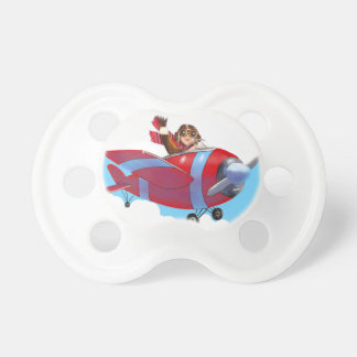 Roter Flugzeug-Schnuller Schnuller