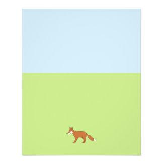 Roter Fox. 11,4 X 14,2 Cm Flyer