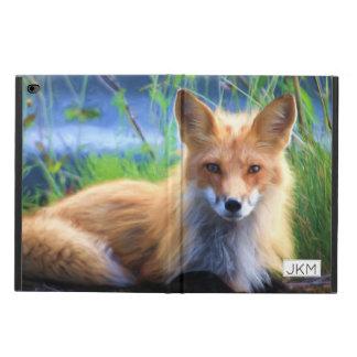 Roter Fox, der in die Gras-landschaftlichen wild