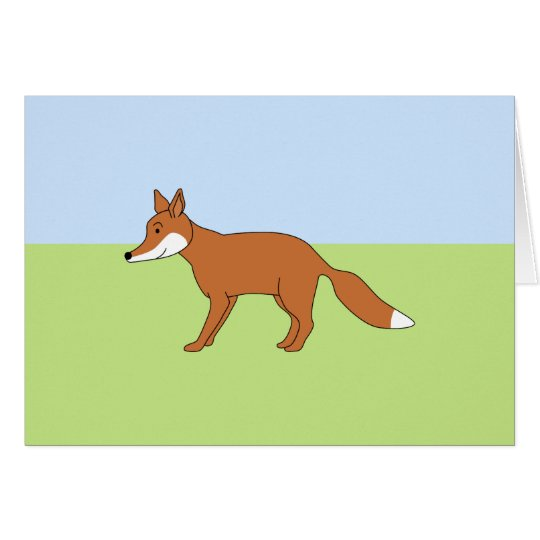 Roter Fox. Grußkarte