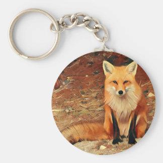 Roter Fox-Malerei Schlüsselanhänger