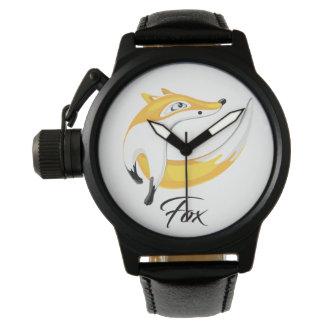Roter Fox, weg schauend Armbanduhr