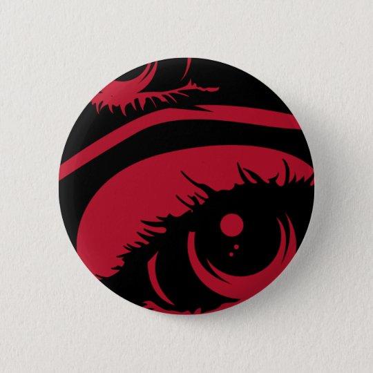 Roter frequentierender Augen-Knopf Runder Button 5,7 Cm