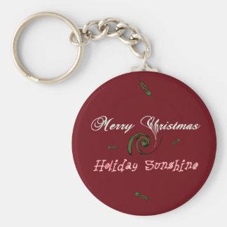 Roter frohe Weihnacht-Feiertags-Sonnenschein Schlüsselanhänger