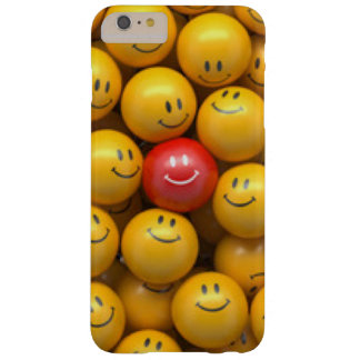 Roter gelber Smiley-Muster-Entwurf Barely There iPhone 6 Plus Hülle