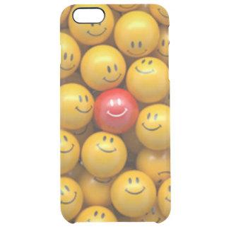Roter gelber Smiley-Muster-Entwurf Durchsichtige iPhone 6 Plus Hülle