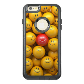 Roter gelber Smiley-Muster-Entwurf OtterBox iPhone 6/6s Plus Hülle