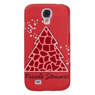 Roter Giraffe Weihnachtsbaum Galaxy S4 Hülle