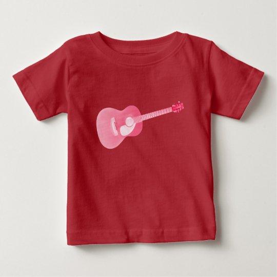 Roter Gitarren-Baby-T - Shirt