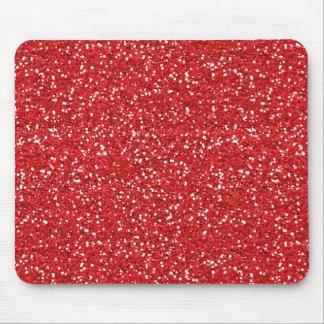 Roter Glitter Mousepad