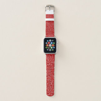 Roter Glitzer-Entwurf Apple Watch Armband