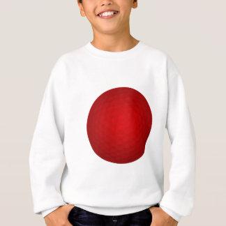 Roter Golfball Sweatshirt